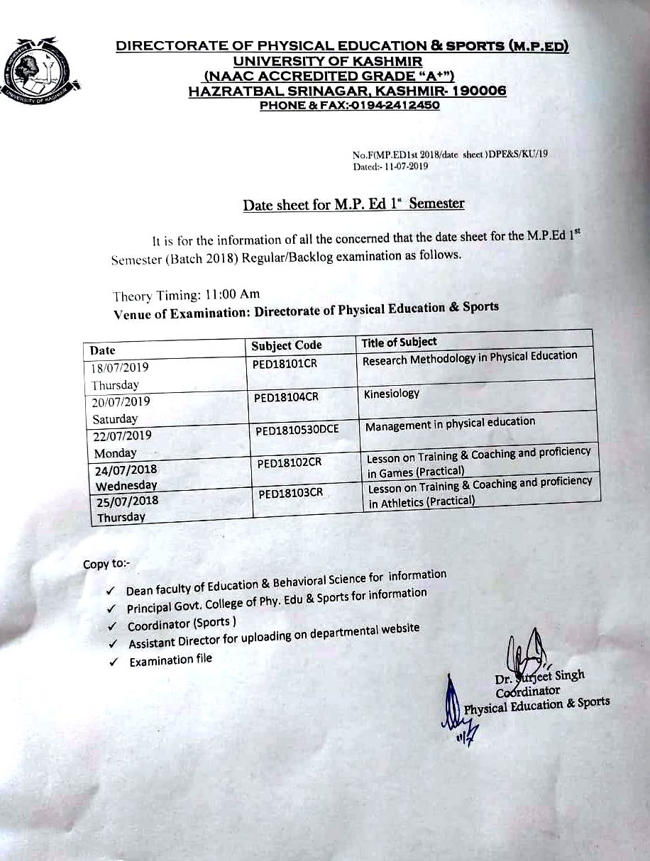 Directorate of Physical Education & Sports, University of Kashmir
